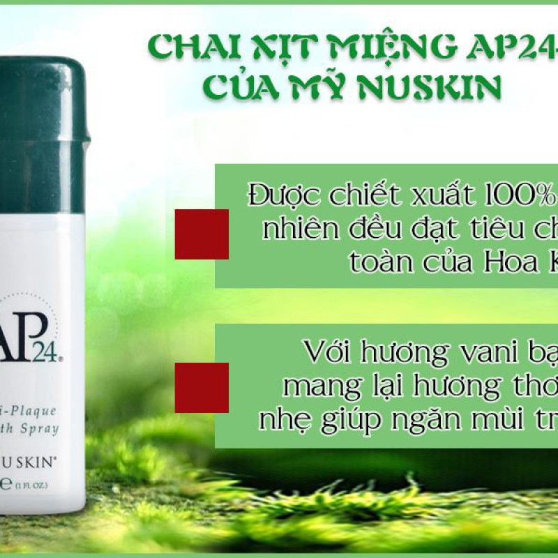 Nước xịt thơm miệng sạch mảng bám AP24 Anti-plaque Fresh Spray